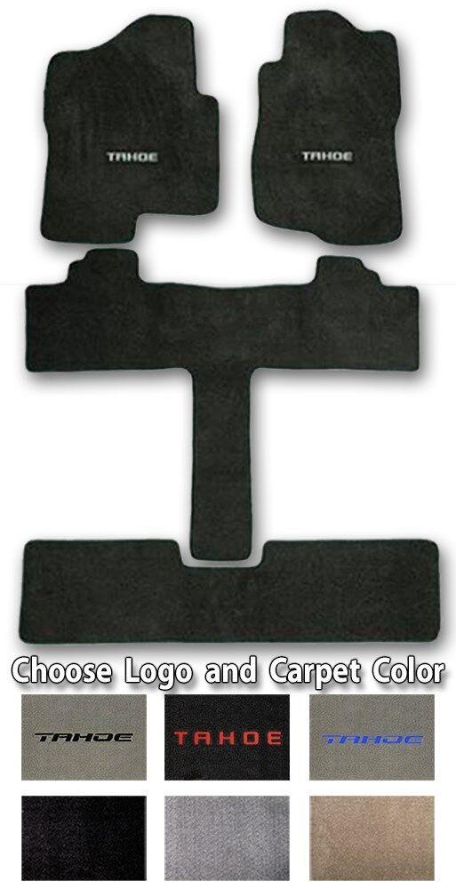 Choose Color /& Official Logo 2000-2019 Chevrolet Tahoe Carpet Floor Mats