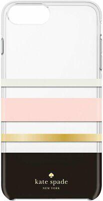 Kate Spade New York Striped Case For iPhone 8+ 7+  Cream Blush Gold Black