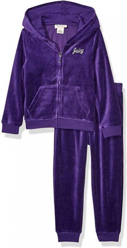 Juicy Couture Girl Purple 2pc Velour Set Size 2T 3T 4T 4 5 6 6X 7 8/10 12