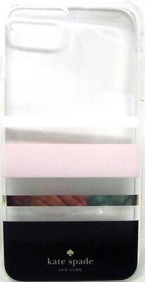 Kate Spade Flexible Charlotte Stripe Black Gold Foil For iPhone 8 Plus / 7 Plus