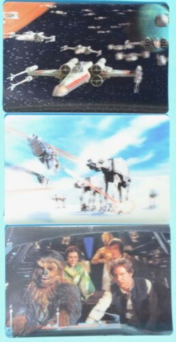 Kellogg's STAR WARS Special Edition Trilogy 3D lenticular cards from cereal box