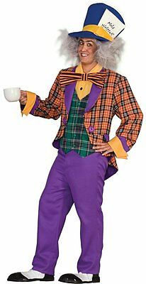 Crazy Hatter Costume (Mad Hatter Alice in Wonderland Tea Party Crazy Dress Up Adult Halloween)