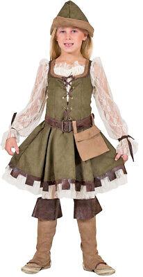 Robin Hood Girl Kostüm für Mädchen - Lady Marian Verkleidung Kinder Karneval