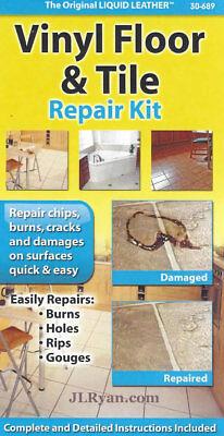 Liquid Leather Vinyl Floor and Tile Repair Kit - NEW, Fast - Liquid Vinyl Flooring