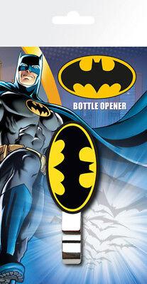 DC Comics - Batman Logo Flaschenöffner mit Gummigriff - Größe ca. ca. 2,5x7,5 cm