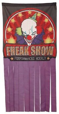 Freak Show Halloween Party (Large 1.58m Horror Freak Show Circus Door Curtain Decoration Halloween Party)