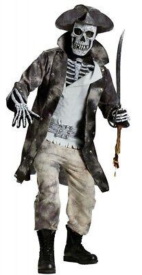 Herren Kostüm Ghost Pirate 3D Halloween Totenkopf-Maske böse Horror Geist Pirat