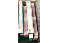 heavy duty colored euro pallet boards some planed and some red / burgundy , 80 plus boards