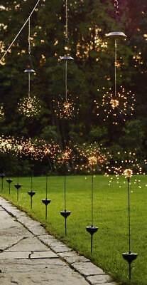 LED Gartenstecker Solarstäbe 90 LEDs warmweiß o. bunt Hängedekoration Gartendeko