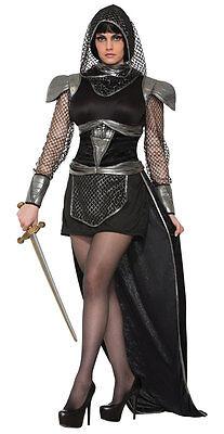 Krieg Kostüm (Mittelalter Glamour Kriegerin Damenkostüm NEU - Damen Karneval Fasching Verkleid)