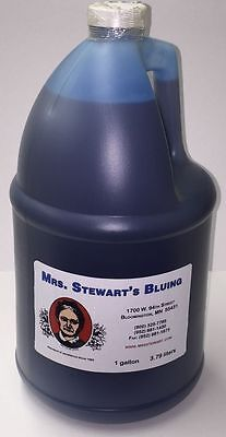 Mrs. Stewarts CONCENTRATED LIQUID BLUING Whiten White Clothes Safely 1 Gallon