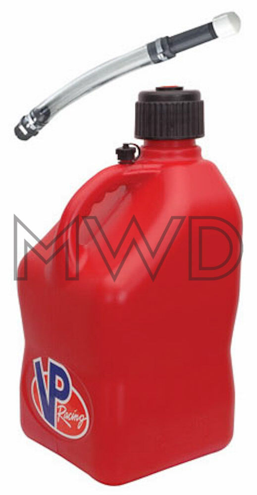 Vp Racing Red 5 Gallon Square Fuel Jug Deluxe Fill Hose