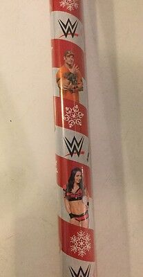 BIG ROLL-70 Sq Ft-WWE Wrestlers Gift Wrapping Paper, BRAND NEW-SEALED