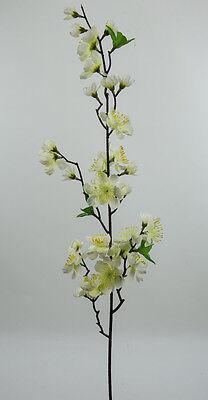 Kirschblütenzweig 80cm weiß-creme PF künstliche Kirschblüte Blumen Kunstblumen