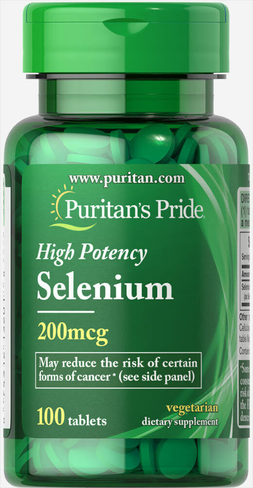Puritan's Pride Selenium (High Potency) 200 mcg 100 Tablets