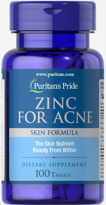 Puritan's Pride Zinc for Acne - 100 Tablets