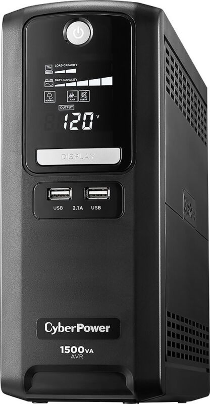 CyberPower - 1500VA Battery Back-Up System - Black