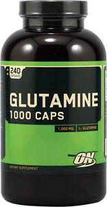 Optimum Nutrition GLUTAMINE 1000mg Amino Acid 240 Capsules