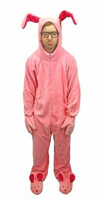 A Christmas Story Deluxe Bunny Suit Pajamas/Costume From Aunt Clara ](A Bunny Costume)