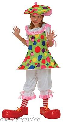 Child CLOWN CLOWNING AROUND Circus Girl Fancy Dress Outfit Costume Cute Age 3-13 (Cute Circus Outfits)