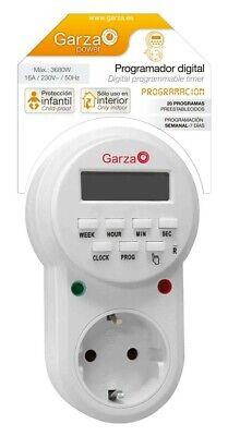 Garza, Temporizador Programador Digital de 8 Programas con Múltiples Funciones,
