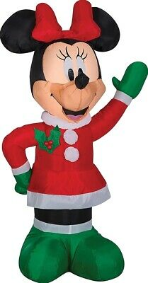 Airblown Minnie Mouse Winter Outfit Disney Christmas Gemmy Inflatable