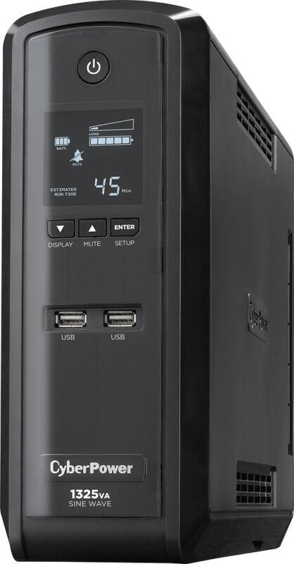 CyberPower 1325VA Gaming System Battery Back-Up System Black GX1325U