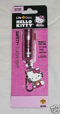 Hello Kitty Safety Keychain LED Flashlight Flash Light Hook Key Chain
