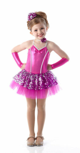 Child XL Baby Love Ballet Tutu Dance Costume w/ Neck & Headpiece