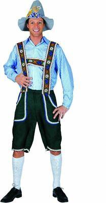 Tiroler Kniebundhose Anton Lederhosen Look Bayern Kostüm Oktoberfest Party %SALE