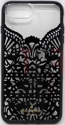 New KATE SPADE Lace Cage Black/Clear Case iPhone 8+ Plus 7+ Plus 6S+Plus 6+Plus