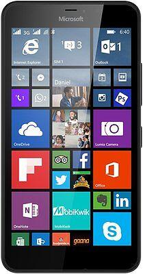 """NEW"" Microsoft Lumia 640 XL RM-1063 4G LTE  Black Unlocked Smartphone 5.7""HD720"