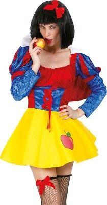 Schneewittchen Märchen Kostüm für Damen - Süßes kurzes Kleid für Fasching - Märchen Kostüm Für Damen