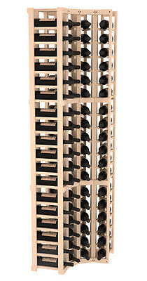 72 Bottle 4 Column Corner Wine Cellar Rack Kit in Pine. Hand Crafted in the USA.