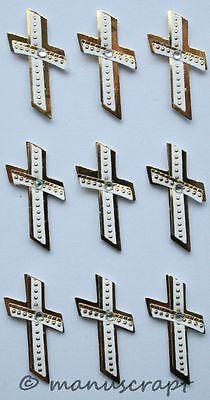 Kreuz silber Konfirmation Kommunion Artoz Artwork 3D-Sticker