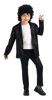 Kids Billie Jean Costume (Michael Jackson Child's Deluxe Billie Jean Sequin Jacket Costume Accessory,...)