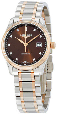 L2.257.5.67.7 | NEW LONGINES MASTER COLLECTION ROSE GOLD & STEEL DIAMOND WATCH