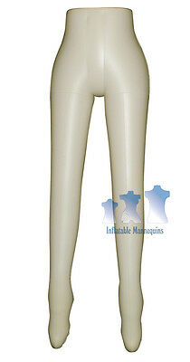 Inflatable Mannequin Female Leg Form Ivory