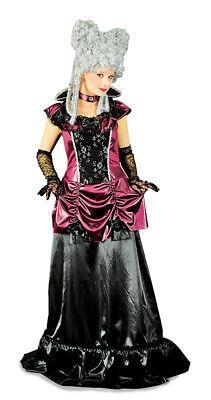 Vampir Kostüm Catherine für Damen Hexenkostüm Barock Halloween - Schwarz Halloween Kostüme Für Damen