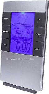 New - DIGITAL WEATHER STATION WITH ALARM CLOCK - KEEP TRACK OF TEMPERATURE HUMIDITY AND THE FORECAST