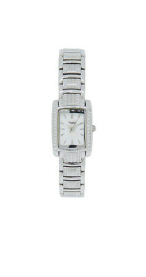 Caravelle by Bulova 43L010 Women's Rectangular Clear Crystal Analog Petite Watch