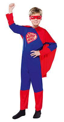 Superhero Heldenkostüm für Kinder NEU - Jungen Karneval Fasching Verkleidung Kos