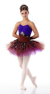 FROM WITHIN Camisole Ballet Tutu PURPLE Ballerina Dance Costume 6X7 Adult M & L - Adult Tutu Outfits