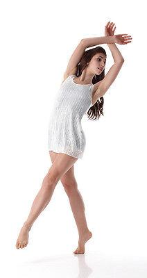 Pearl Zeitgenössische Lyrisch Ballett Tanzen Kleid Farbpassiviert Kostüm (Zeitgenössischer Tanz Kostüm)