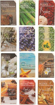 4 Packets of Pocket Incense Sticks - Stock Clearance (4 Different Scents)