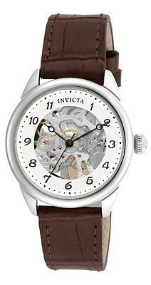Invicta Specialty 17198 Womens Round Mechanical Analog Brown Leather Watch