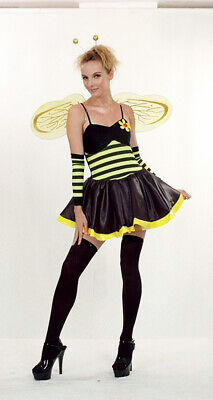 LADIES SEXY HOT BUMBLE BEE INSECT OUTFIT ADULT FANCY DRESS COSTUME - Bumble Bee Fancy Dress Costume Adults