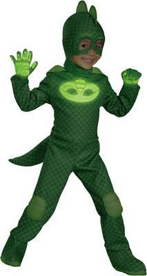 Disney Pyjama Masken Gekko Deluxe 4 Teile Leuchtet Im Dunkeln Kostüm Neue
