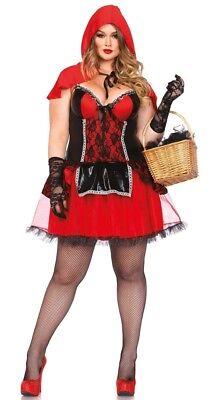 Kostüme Mit Rotem Cape (Kurviges Mädchen mit rotem Cape Damenkostüm NEU - Damen Karneval Fasching Verkle)