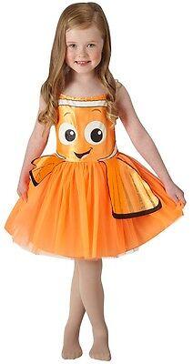 Mädchen Offiziell Disney Orange Finding Nemo Dory Tutu Kostüm Kleid (Finding Nemo Dory Kostüm)